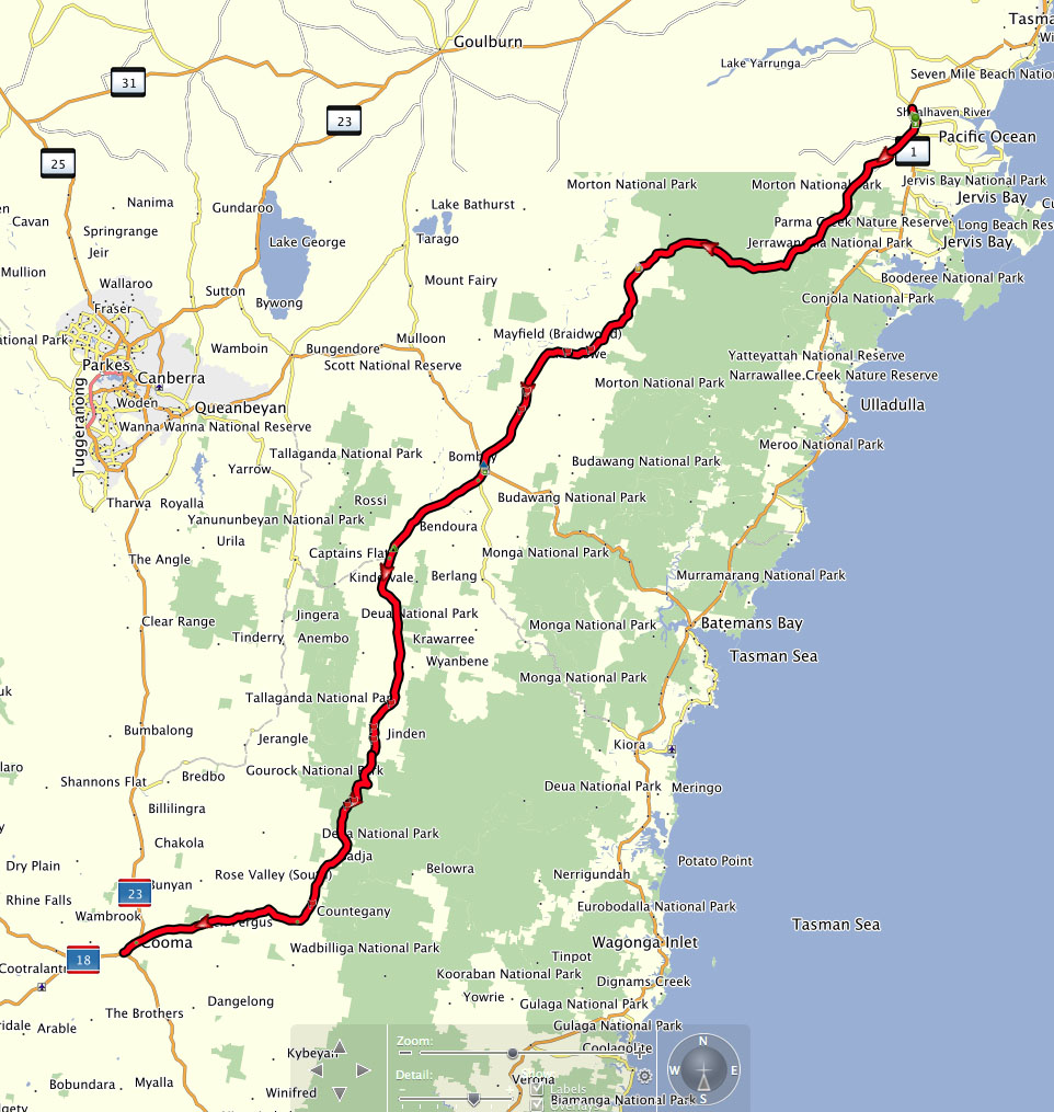 Nowra to Cooma via a bit of dirt Motor Bike Nation